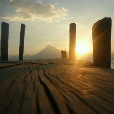 Una de las mejores fotografías que capturado en mi vida! Lago de Atitlan