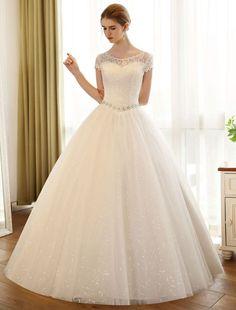 Princess Ball Gowns, Princess Wedding Dresses, Cheap Wedding Dress, Wedding Gowns, Beautiful Bridal Dresses, Backless Wedding, Bridal Lace, Beauty, Sewing Patterns