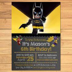10 x Personalised LEGO Batman Birthday Invitation//Invites with Envelopes CC