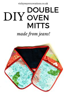 Make your own oven gloves, step by step tutorial to transform old jeans and duvet cover into stylish DIY Oven Gloves. Sewing Hacks, Sewing Tutorials, Sewing Projects, Sewing Tips, Sewing Ideas, Sew Your Own Clothes, Sewing Clothes, Recycled Crafts, Diy Crafts