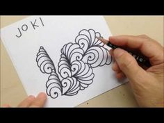 How to draw tanglepattern Ginili - YouTube