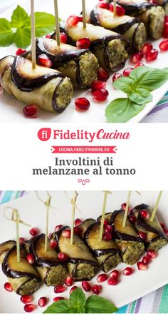 Tuna eggplant rolls-Involtini di melanzane al tonno Tuna eggplant rolls - Appetizer Buffet, Appetizer Recipes, Wine Recipes, Cooking Recipes, Healthy Recipes, Antipasto, Finger Food Appetizers, Finger Foods, Different Chicken Recipes