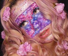 Bodypainting by @leonieandlavender on Instagram Midsummer Dream, Beauty Make Up, Halloween Face Makeup, Lavender, Floral, Instagram, Body Painting, Flowers, Flower