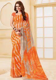 Image result for shibori saree in red