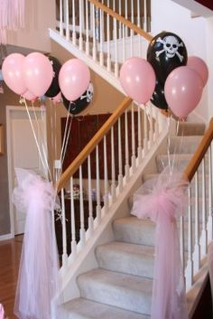 entrance for princess & pirate party - Jennae you should do this for Jack & Juliet!