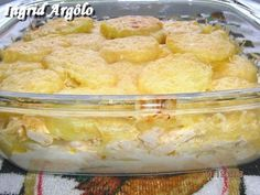 Gratin potatoes with white sauce and cheese (Renata / Ingrid) - Cooking-Recipes - Mauro Rebelo