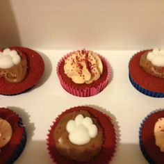 My Red velvet cupcakes. For the RSPCA cupcake day :)