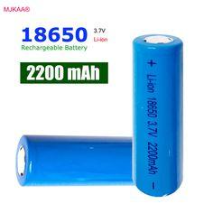 5 unids 18650 Batería 3.7 V 2200 mAh Recargable li-ion batería de Cabeza Plana para el Banco de Potencia de Batería de linterna Led 18650