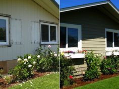 Before and After James Hardie Artisan project, Marin County