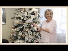 Decorate With Me - Christmas Tree 2017 (Blush Pink)  / How To Flock Your Christmas Tree - YouTube
