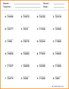 Free Math Worksheets Fifth Grade 5 Multiplication Division Division with Remainder within 1 100 . 4 Worksheet Free Math Worksheets Fifth Grade 5 Multiplication Division Division with Remainder within 1 100 . Multiplication And Division Worksheets, Grade 5 Math Worksheets, Decimals Worksheets, Free Printable Math Worksheets, Alphabet Worksheets, Multiplying Decimals, Number Worksheets, Multiplication Properties, Decimal Multiplication