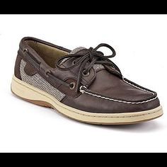 cfc5ce19a3 Dark Brown Leather Sperrys Brown Sperrys, Leather Boat Shoes, Dark Brown  Leather, Nautical
