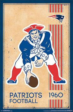 NFL Heritage Series BOSTON PATRIOTS Retro Logo c.1960 Official Team Poster - Costacos Sports
