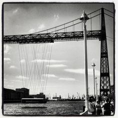 Puente de Getxo #buildings #architecture #arquitectura #bn #bw #blanckandwhite #blancoynegro #bilbao #bilbo #euskadi #getxo