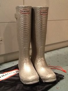 Metallic Hunter Boots