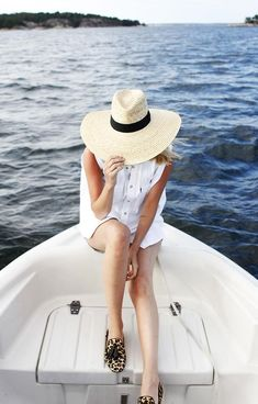 Shop this look on Kaleidoscope (dress, hat)  http://kalei.do/X0GrhEhHNZ7fI1uy #boatonlakeoutfit