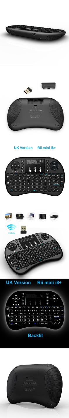 Hot Selling 2.4G Rii Mini i8+ Wireless Keyboard Qwerty Touchpad Backlit Keyboard for HTPC Andorid/Smart TV Box PC GamingTeclado