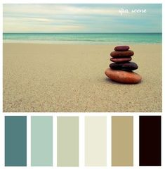 spa scene: the colors for my home decorating palette Spa Colors, Spa Paint Colors, Beachy Colors, Ocean Colors, Bathroom Spa, Bathroom Colors, Bathroom Ideas, Master Bathroom, Massage Room