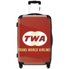 iKase 'Twa Red Emblem' 24-inch Fashion Hardside Spinner Suitcase