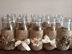 Hey, I found this really awesome Etsy listing at https://www.etsy.com/listing/197937416/50-rustic-wedding-milk-bottles-country