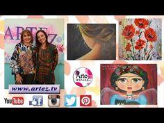 Artez TV Programa 17 #Pintura al óleo #Efecto tela #Papel Texturado #Flo...