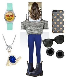 """""""Bored"""" by alissa33 ❤ liked on Polyvore featuring Armani Jeans, Dr. Martens, Boohoo, Kate Spade, Chanel and MBLife.com"""