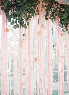 Roses + ribbon.