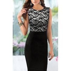 Women's Pencil Skirt Stitching Dress