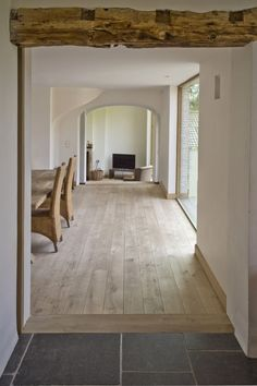 Extensive range of parquet flooring in Edinburgh, Glasgow, London. Parquet flooring delivery within the mainland UK and Worldwide. Hardwood Floor Colors, Hardwood Floors, Living Room Flooring, Kitchen Flooring, Farmhouse Flooring, Transition Flooring, Tile To Wood Transition, Living Room To Kitchen Floor Transition, Oak Color