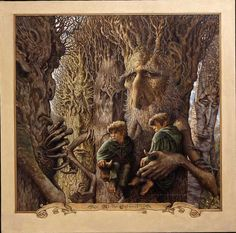 Los Ents y los Hobbits/ The Ents and the Hobitts