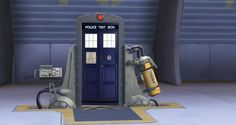 "oh my god you know what i just realized? all of the doors in monster's inc. are ""bigger on the inside"". so if any of the monsters went through this door they wouldn't think anything of it. and the doctor would be standing there, smiling, waiting for them to say it, but of course it would make no difference to them."