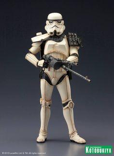 Star Wars: Sandtrooper Sergeant (Single) ARTFX+ Statue by Kotobukiya Imperial Stormtrooper, Anime Figures, Action Figures, Kotobukiya Star Wars, Nerd, War Bonnet, Pauldron, Handmade Crafts, Gardens