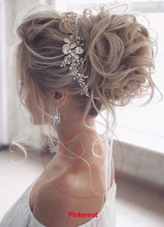 : wedding updo hairstyle, messy updo bridal hairstyle,updo hairstyles ,wedding hairstyles Hairstyles Gorgeous & Super-Chic Hairstyle That's Breathtaking - Fabmood Long Hair Wedding Styles, Wedding Hairstyles For Long Hair, Wedding Hair And Makeup, Bridesmaid Hairstyles, Wedding Updo Hairstyles, Hairstyles For Weddings, Updos Hairstyle, Engagement Hairstyles, Updos For Brides