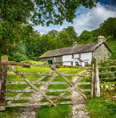 Gated cottage in the Lake District, England.