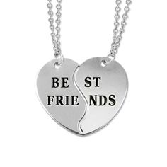 Personalized Best Friends Necklaces in Silver   MyNameNecklace