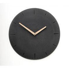 Wertwerke Large Concrete Watch Round - Black   Wertwerke Clocks