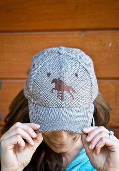 so cute! hunter jumper ball cap.