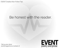 #nonfiction #WritingTips : Be honest with the reader.