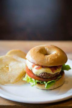 CZECH 1-2 BAGEL BURGER  Cevapi Beef Burger w/ melted cheddar, caramelised onion, lettuce, tomato, mayo and relish W/ SIDE BAGEL CRISPS  #bagelburger #bagel #bagelburgers #bagels #cevapi #cevapcici #foodtruck #food #truck #burger #ballarat #melbourne #geelong
