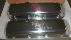 Scared Shiftless Valve Covers Big Block Chevrolet Polished New! www.scaredshiftless.com