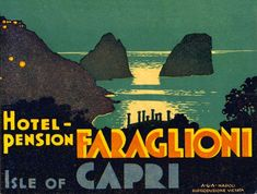 Capri, etichette da valigia - luggage labels
