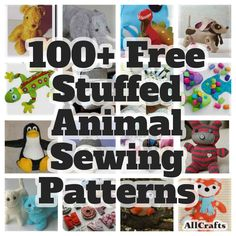 100+ Free Stuffed Animal Sewing Patterns