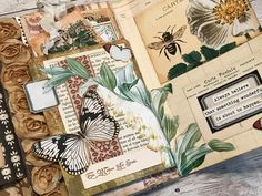 Butterfly Junk Journal by Terri Kolte! - The Graphics Fairy Love Journal, Mixed Media Journal, Journal Design, Junk Journal, Bullet Journal, Collage Book, Book Art, Journal Covers, Art Journal Pages