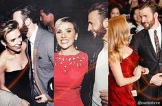 « Scarlett Johansson and Chris Evans »