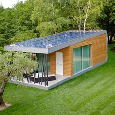 An idea for one of the cabins at our retreat. GREEN ZERO – Prefab Retreat   Tiny House Living