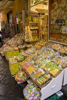 A Lemoncello shop in Sorrento