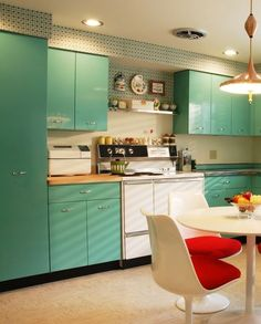 MCM kitchen - Cabinetry in MCM colour paletter with high gloss as per Atherton