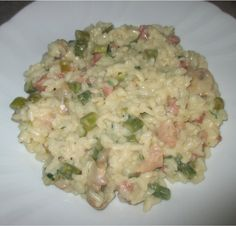 FORNELLI IN FIAMME: RISOTTO WITH ASPARAGUS, BACON AND SWEET SPARKILING WINE - Risotto con asparagi, pancetta e spumante dolce