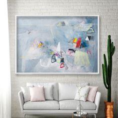 Grey Wall art Geometric art Gray Abstract PRINT extra large wall art giclee print Modern painting by Duealberi #interiors #interiordesign #hotelart #canvasart #madeinitaly #setdecor #homeinspiration #housedesign #designlife