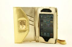MK iPhone 4 Wallet Clutch Leather Case